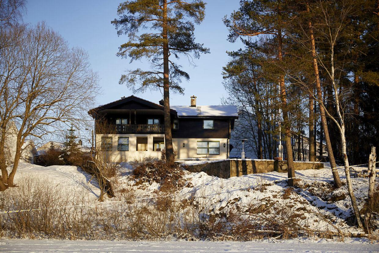 Her ses ægteparrets hjem øst for Oslo.