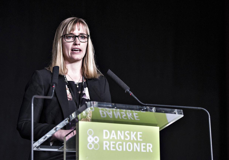 Stephanie Lose, Regionrådsformand i Region Syddanmark, er ærgerlig over, at regeringen tilsyneladende vil lade de fem regioner, der driver sygehusene, lade livet. (Foto: Henning Bagger/Scanpix 2018)