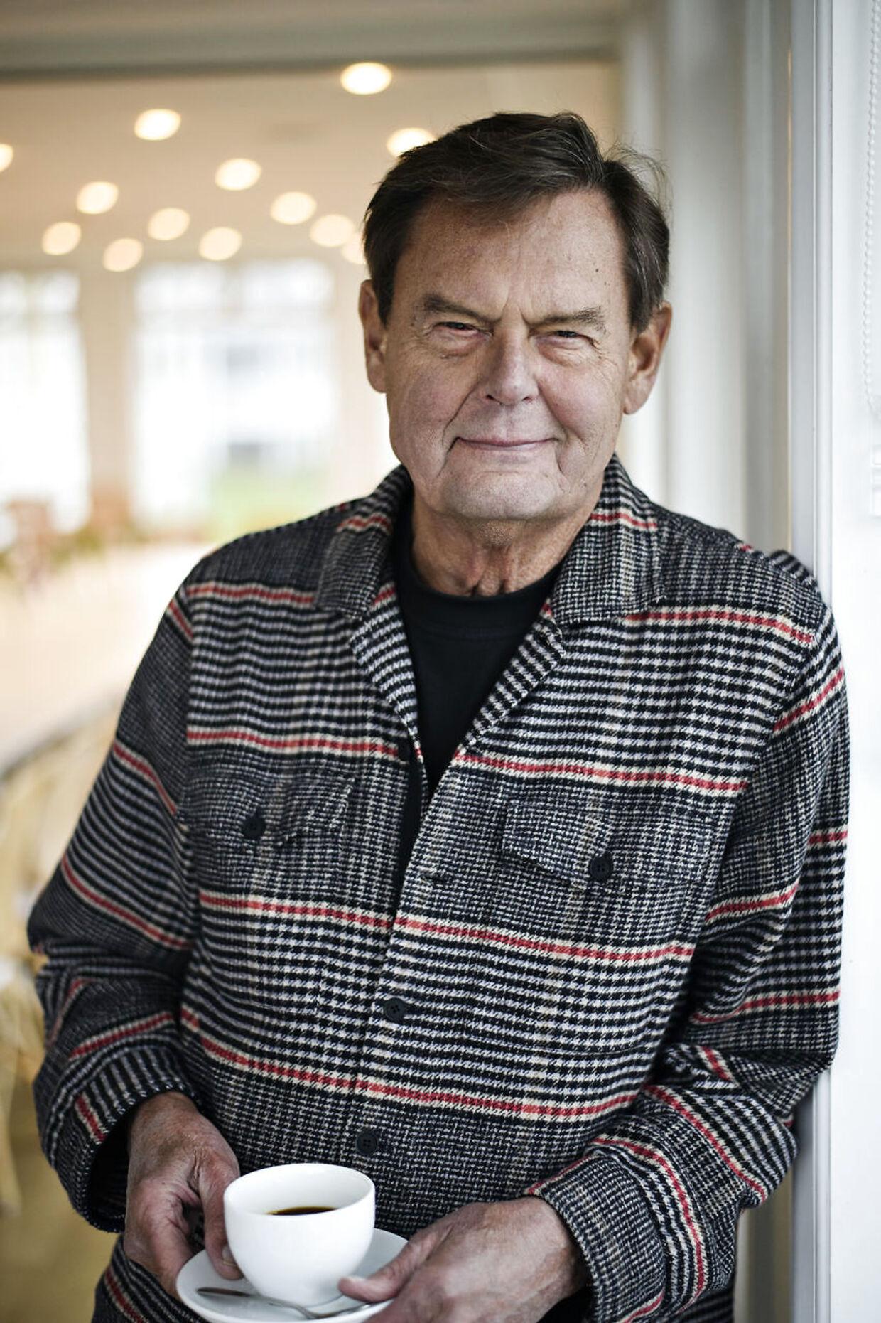 Skuespiller Ulf Pilgaard, da holdet bag Cirkusrevyen 2019 møder pressen i Klithuset i Dronningmølle søndag den 13. januar 2019.. (Foto: Philip Davali/Ritzau Scanpix)