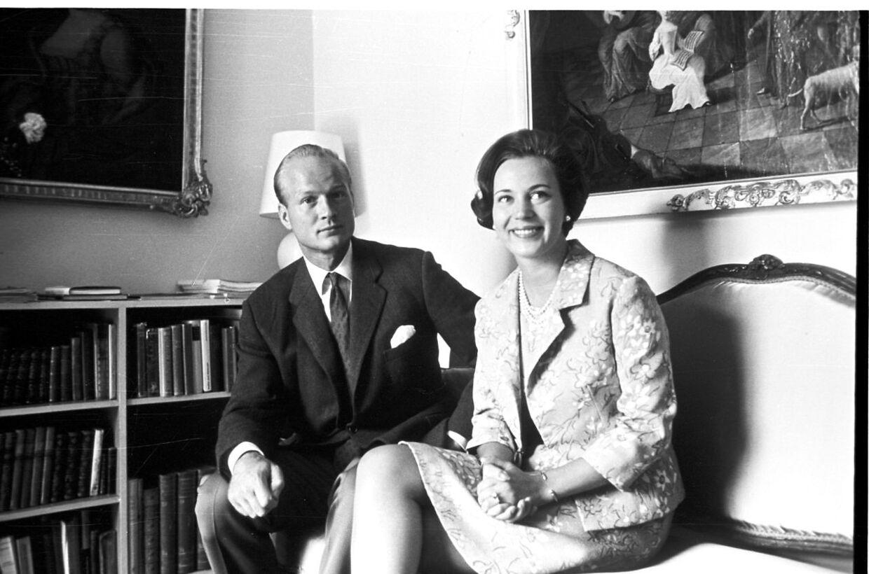 Prinsesse Benedikte og prins Richard i deres hjem på Berleburg Slot i Berleburg.