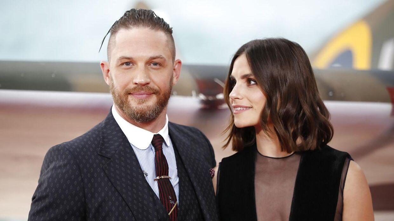 Her ses ægteparret sammen til presmieren på storfilmen 'Dunkirk' i 2017. Tolga AKMEN / AFP