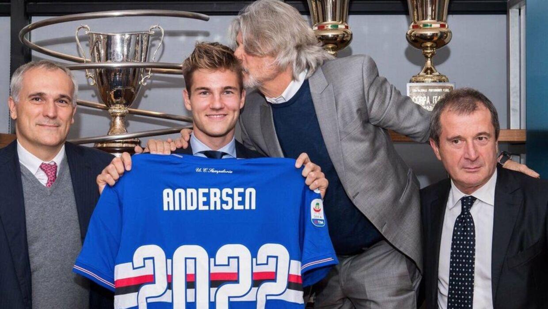 Joachim Andersen forlængede i november sin kontrakt med Sampdoria.