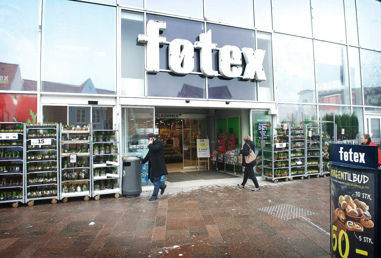Føtex i Sønderborg har opsat et skilt i butikken på arabisk.