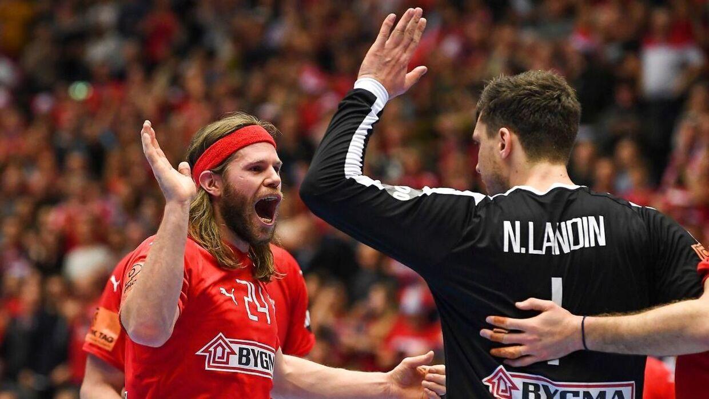 Mikkel Hansen og Niklas Landin.