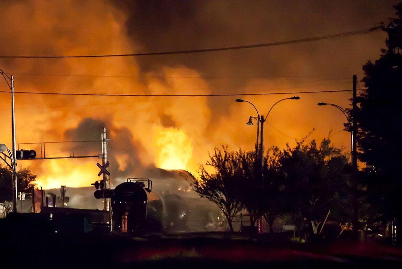 Det er disse optagelser fra den virkelige tog-katastrofe i Canada (2013), der nu også bruges i Susanne Biers Netflix-hit 'Bird Box'.