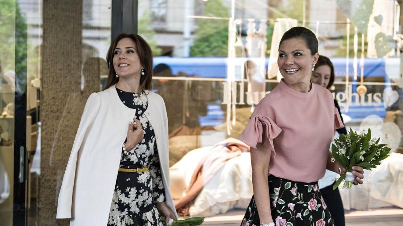 Kronprinsesse Victoria og kronprinsesse ses her sammen i Stockholm i 2017, (Foto: Ida Guldbæk Arentsen/Scanpix 2017)