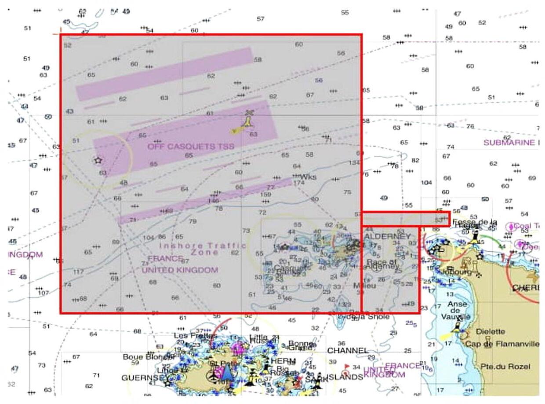 Et overblik over det område, hvor eftersøgningen indtil videre har fundet sted. Inden den sluttede tirsdag aften, da det blev mørkt.