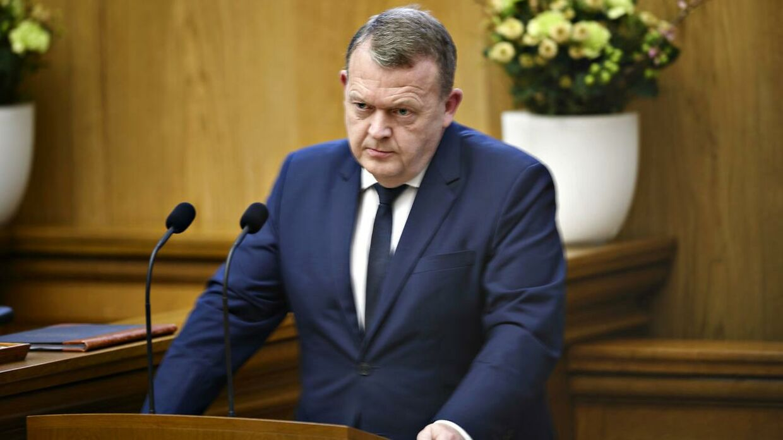 Lars Løkke Rasmussen (V) på talerstolen i Folketinget i sidste uge. Onsdag ville han ikke svare på spørgsmål fra Socialdemokratiet.