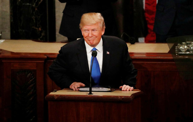 Præsident Donald Trump under sidste års tale om nationens tilstand,
