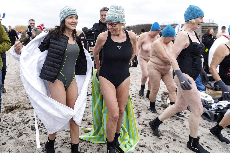 Grevinde Alexandra sprang i bølgerne fredag morgen d. 25. januar i forbindelse med Skagen Vinterbaderfestival 2019.