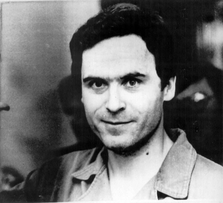 Arkivfoto af den amerikanske seriemorder Ted Bundy.