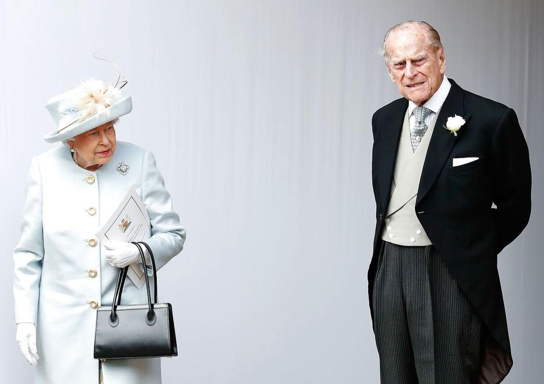 ARKIVFOTO af dronning Elizabeth og prins Philip.