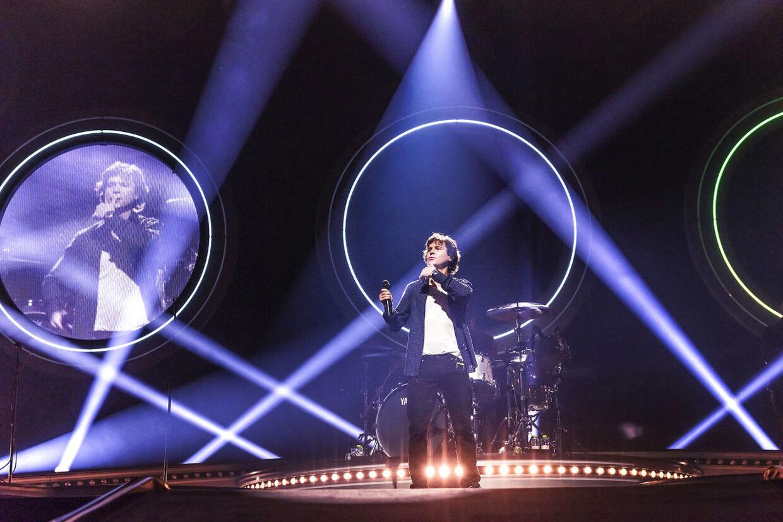 Det danske band Lukas Graham med Lukas Forchhammer i front, på scenen under den første af tre koncerter i Royal Arena tirsdag den 29. januar 2019