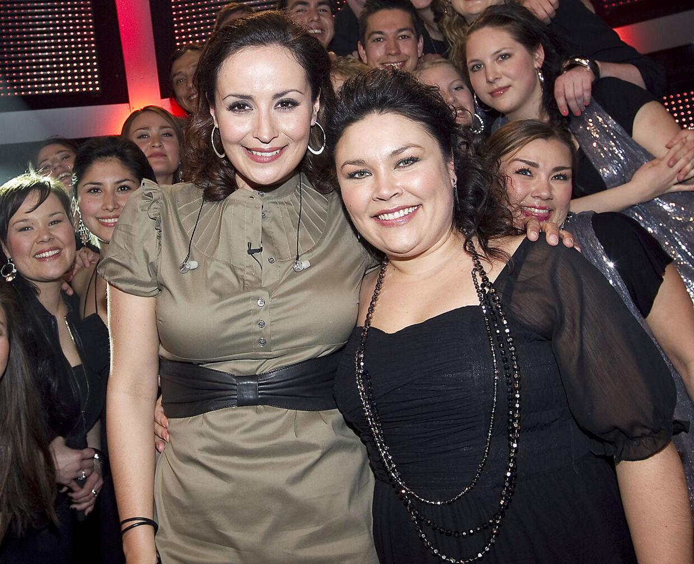 Julie og Nina i 'TV2 Allstars' i 2010.