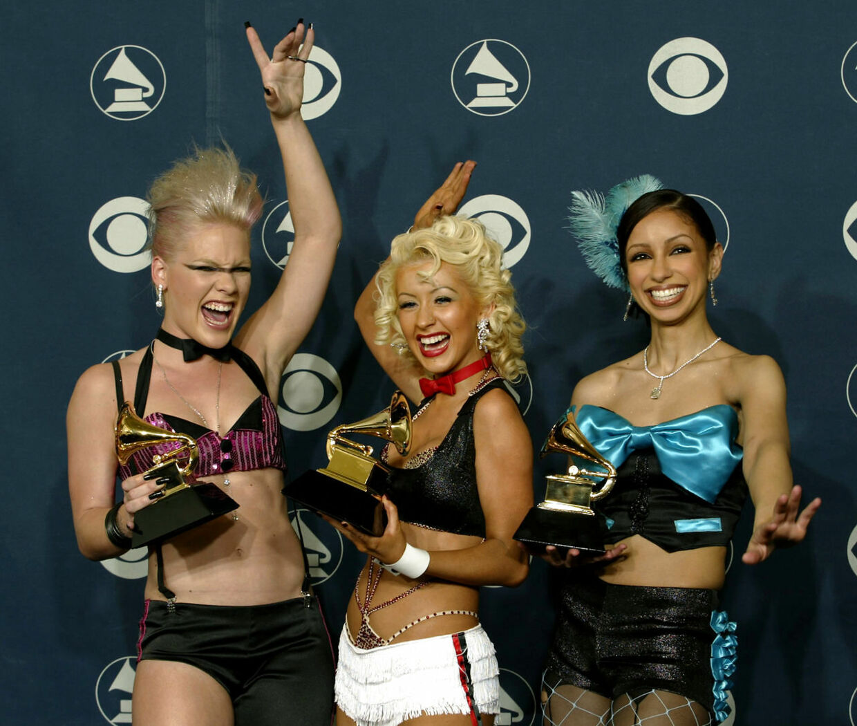 I 2002 var alt godt, da Christina Aguilera og Pink vandt en grammy for deres samarbejde på Lady Marmalade.