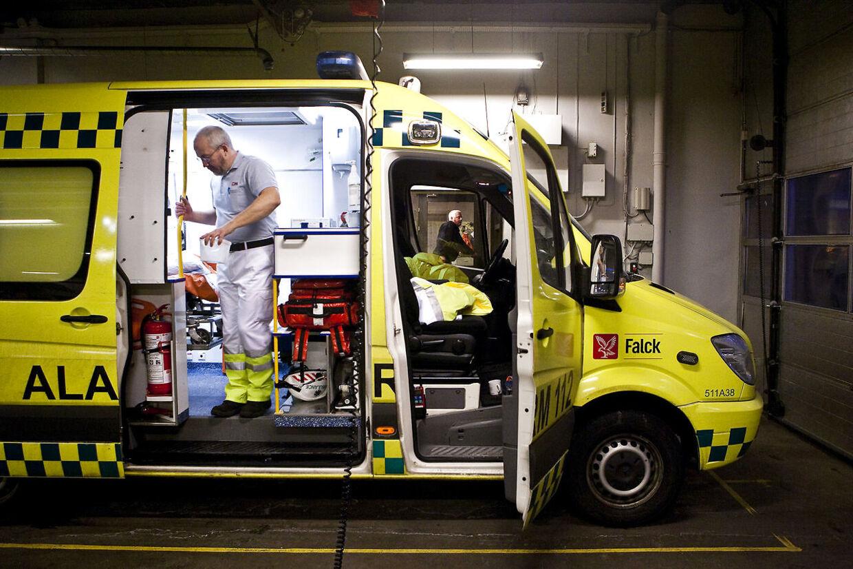 Falck-ambulancer kommer sandsynligvis til også at køre i San Diego. Arkivfoto