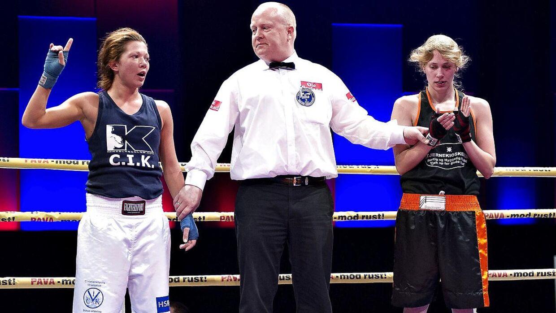 DM i amatørboksning tilbage i 2012. Sarah Mahfoud til venstre.