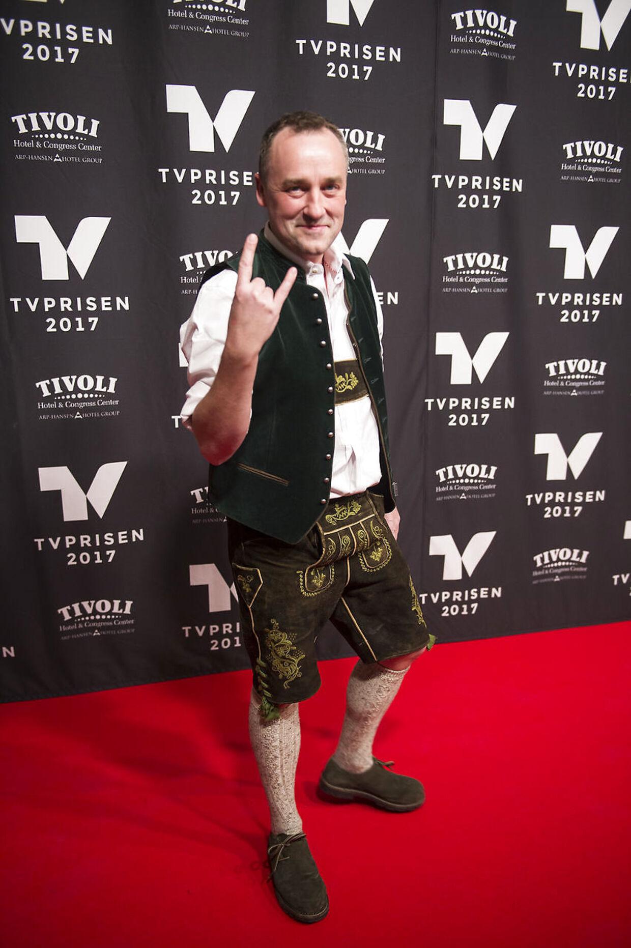 Peter Ingemann ankommer til uddeling af TV-prisen 2017 lørdag aften 28. januar 2017 på Tivoli Hotel og Congress Center i København. (Foto: Sarah Christine Nørgaard/Scanpix 2017)