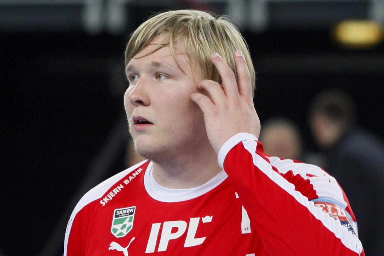 Emil Nielsen fra Skjern skal fra næste sæson spille for Nantes. Men inden da skal målmanden selv møde franskmændene i Champions League-gruppespillet. Ritzau Scanpix/sportxpress/Free