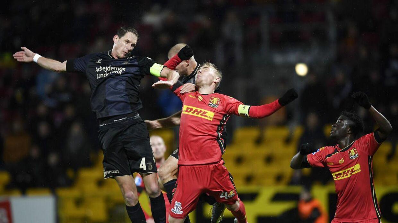 Mod FC Nordsjælland var Brøndbys forsvar i problemer.
