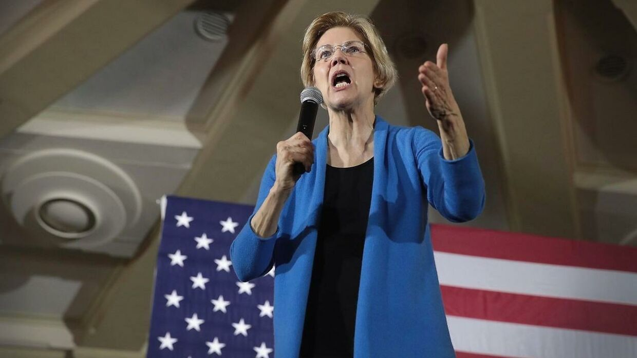 CEDAR RAPIDS, IOWA - FEBRUARY 10: Sen. Elizabeth Warren (D-MA) speaks at a campaign rally at the University of Iowa on February 10, 2019 in Iowa City, Iowa. Warren is making her first three campaign stops in the state since announcing yesterday the she was officially running for the 2020 Democratic nomination for president. Scott Olson/Getty Images/AFP == FOR NEWSPAPERS, INTERNET, TELCOS & TELEVISION USE ONLY ==