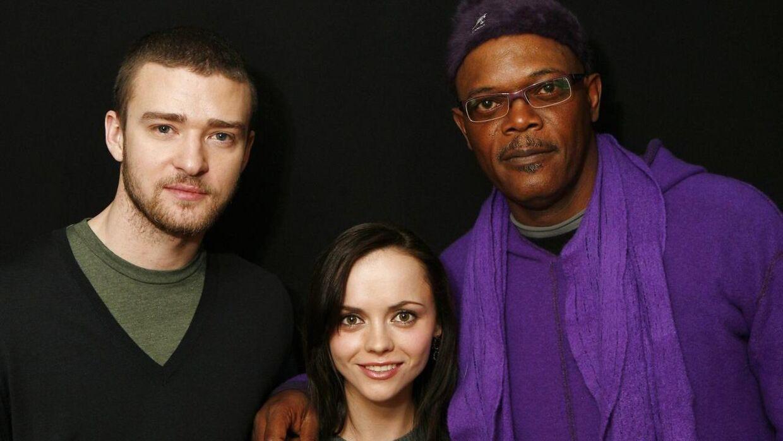 Skuespillere fra filmen 'Black Snake Moan' med Justin Timberlake, Christina Ricci og Samuel L. Jackson til Sundance Film Festival i Park City, Utah den 24 januar 2007. REUTERS.