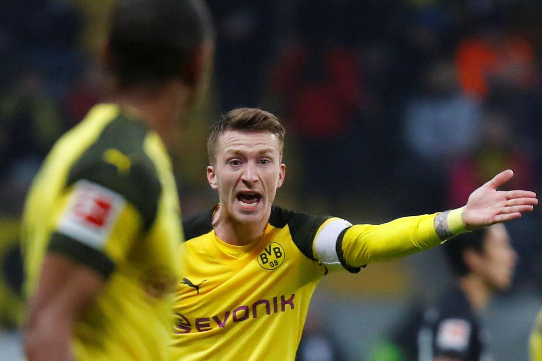 Marco Reus kommer ikke i med i Dortmunds møde med Tottenham i Champions League onsdag aften. Kai Pfaffenbach/Reuters