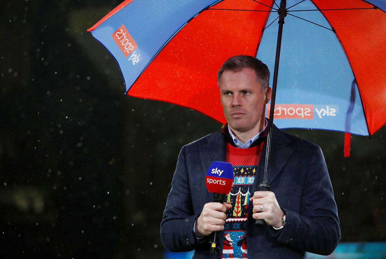 Jamie Carragher, der tidligere har spillet for Liverpool, er i dag ekspert hos Sky.