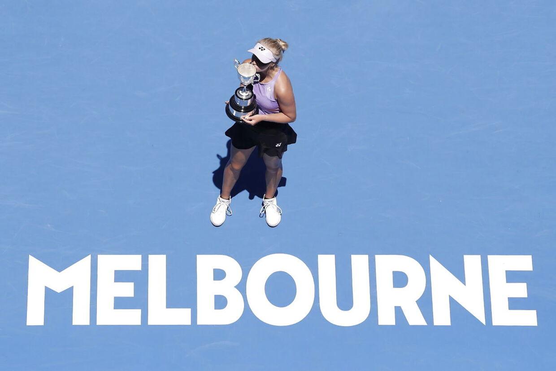 Clara Tauson vandt i januar Australian Opens pigesingle-række.