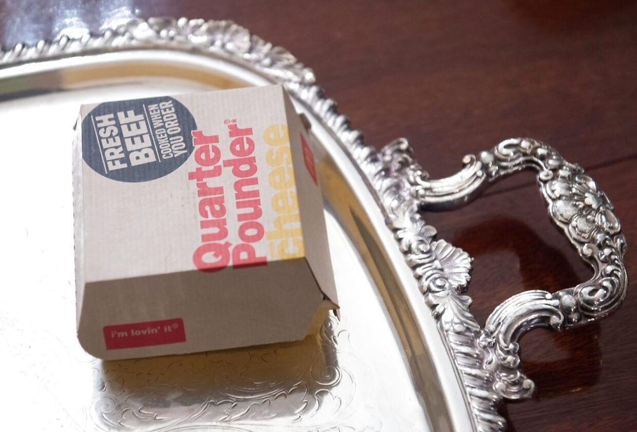 Trump er glad for burgere. Blandt andet Quarter Poundere fra McDonald's.