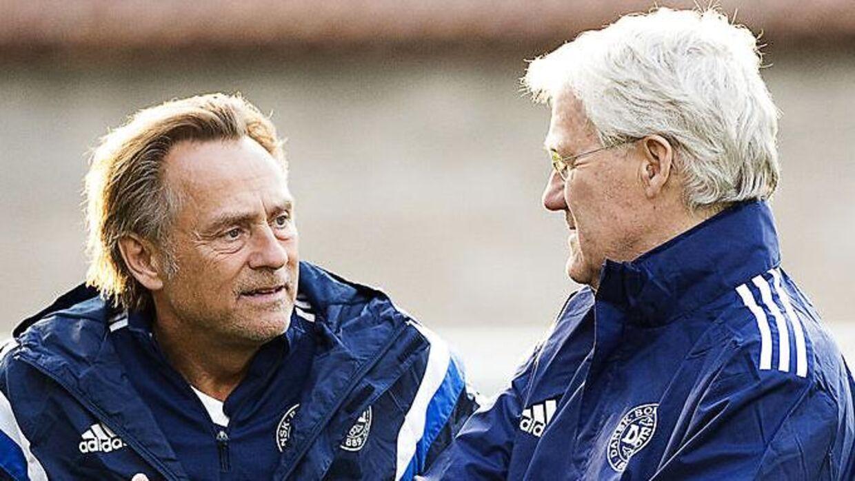 Lars Høgh og den tidligere landstræner, Morten Olsen.