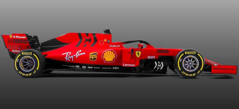 Det er denne røde farve, Ferrari fortæller, bilen har, når den kører på banerne.
