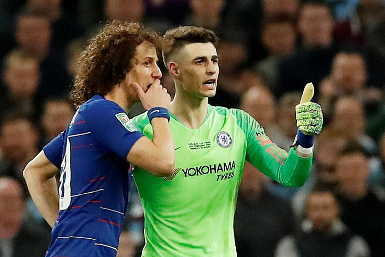 Kepa Arrizabalaga ønskede ikke at blive skiftet ud i søndagens Liga Cup-finale mellem Chelsea og Manchester City. David Klein/Reuters