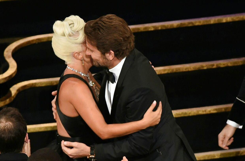 Ved den 91. udgave af Oscars-uddelingen fik Lady Gaga en statuette for sangen Shallow. (Photo by VALERIE MACON / AFP)