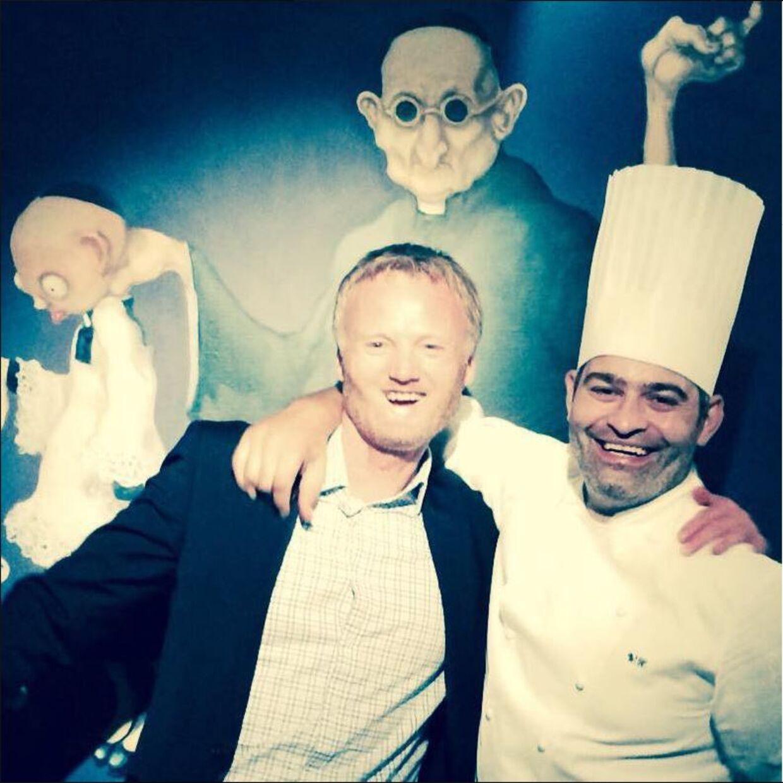 Ken Tellefsen sammen Wassim Hallal, som ifølge ham er Danmarks bedste kok.