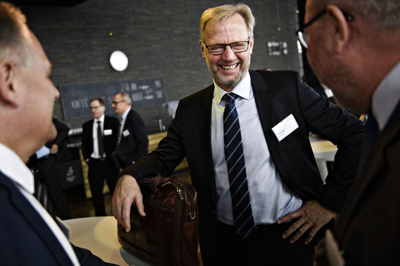 Ordførende direktør i Jyske Bank Anders Dam, da Finans Danmark holder årsmøde 2018, i Skuespilhuset i København, mandag den 3. december 2018. Foto: Philip Davali/Ritzau Scanpix