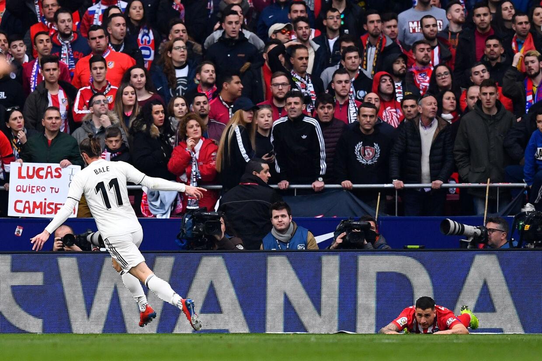 9. februar scorede Gareth Bale til slutresultatet 3-1 mod Atlético Madrid, men det var hans jubelscene, der blev talt mest om efterfølgende. Gabriel Bouys/Ritzau Scanpix