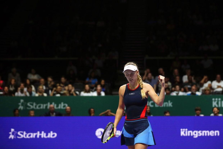 Wozniacki ved WTA Finals i 2018.