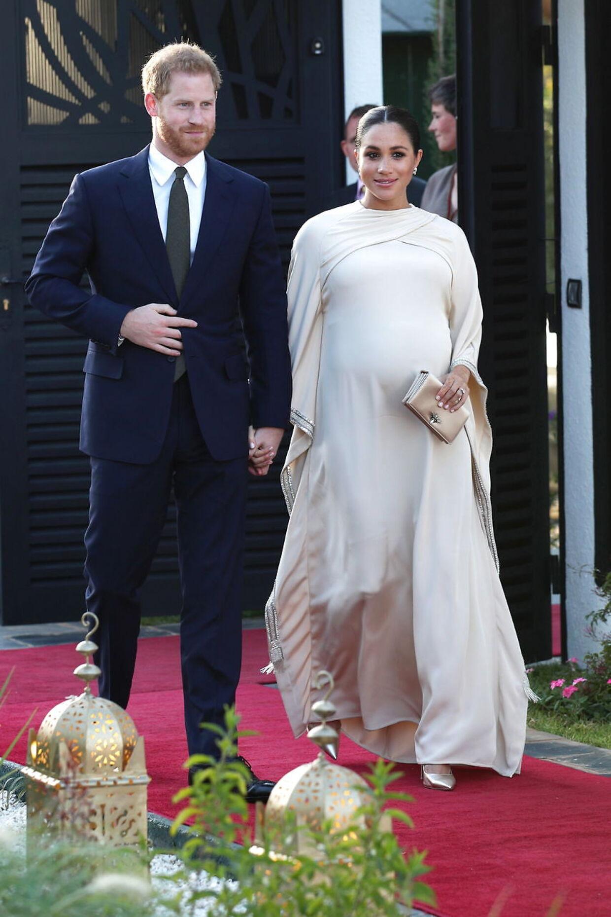 Prins Harry og Meghan Markle under et besøg i Marokko i slutningen af februar.