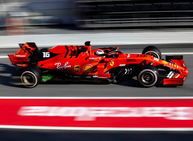 Ferrari-raceren under årets test i Barcelona.