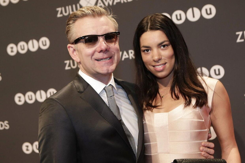 Casper Christensen og kæresten Isabel Friis Mikkelsen sammen til Zulu Awards i 2012.