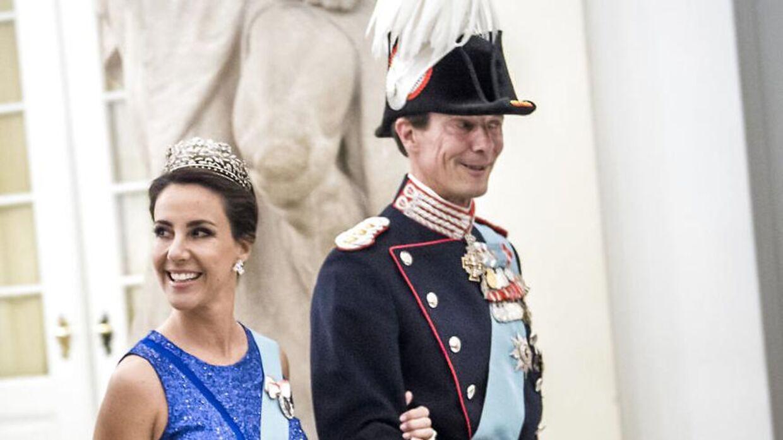 Prinsesse Marie og prins Joachim ved H. K. H. Kronprinsens 50-års fødselsdag den 26. maj 2018.