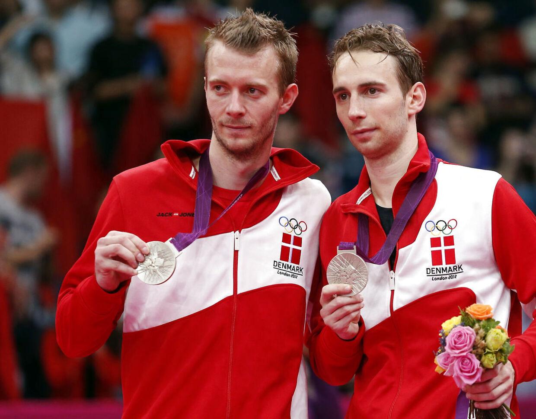 Carsten Mogensen, til venstre, og Mathias Boe vandt sølv ved OL 2012 i London.