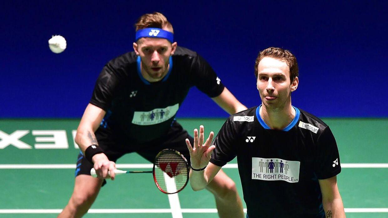 Mathias Boe og Carsten Mogensen spiller ikke længere sammen, og bruddet har været alt andet end pænt. (Foto: KAZUHIRO NOGI/Ritzau Scanpix)