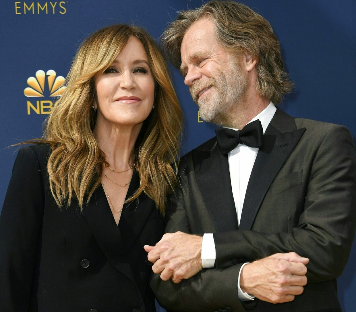 Felicity Huffman og William H. Macy til Emma Awards i 2018.