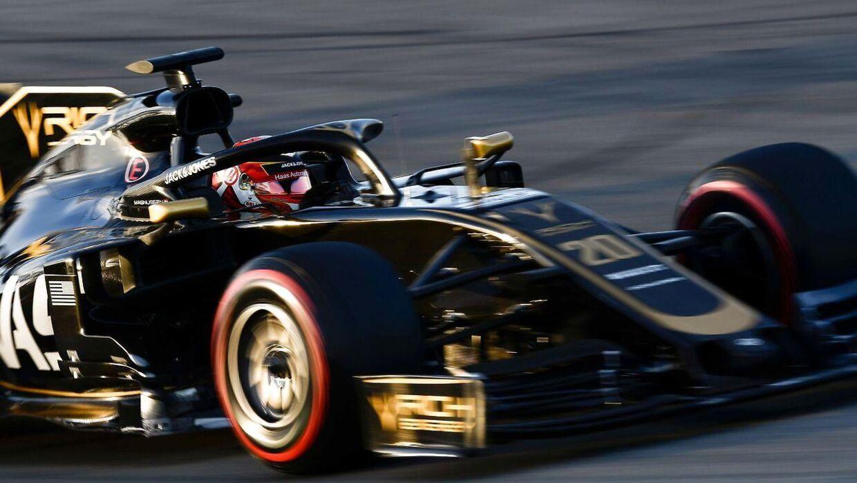 Kevin Magnussen tager i weekenden hul på sin tredje Formel 1-sæson for Haas, og han føler sig hjemme på holdet, der viser ham stor tillid og støtte. Det skriver Ritzau, tirsdag den 12. marts 2019.. (Foto: LLUIS GENE/Ritzau Scanpix)