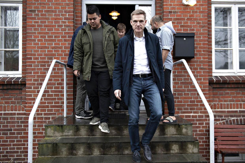 Kristian Thulesen Dahl på tur i Sønderjylland. Besøg på Asylcenter Hviding. Hviding onsdag den 6. marts 2019.