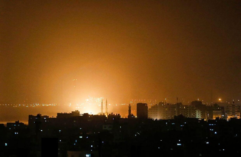 Israel bomber »terrorsteder« efter to raketaffyringer. Her ses Gazastriben sent torsdag 14. marts 2019.