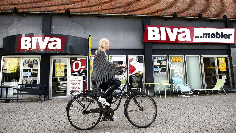 Arkiv. Biva var engang en stor koncern med butikker over hele landet. Her den tidligere butik på Nørrebro.