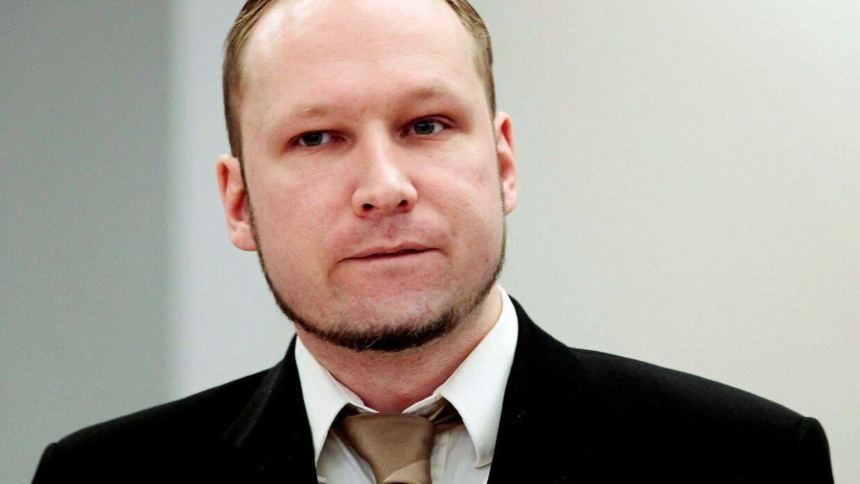 Anders Behring Breivik i retten i Oslo den 17 april 2012.